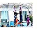 Akrobaten im ZDF-Fernsehgarten